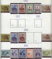 13524 PORTUGAL Collection Vendue Par Page Franchise  71/6, 79/80, 83/4, 85/90 *   1933-35   B/TB - Franchise