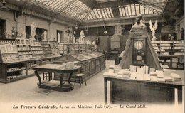 75. CPA. PARIS 6°.  La Procure Générale, Librairie Générale Chrétienne,  3 Rue De Méziéres, Paris 6°  Le Grand Hall. - Negozi