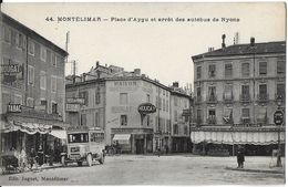 MONTÉLIMAR  26 DROME 44 PLACE D'AYGU ET ARRÊT DES AUTOBUS DE NYONS EDIT. JOGUET - Montelimar