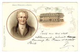 JOHANN WOLFGANG VON GOETHE - Ed. Lith-Artist. Anstalt München, Serie I N° 15915 - Oblit. 1901 - Filosofia & Pensatori