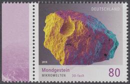!a! GERMANY 2019 Mi. 3478 MNH SINGLE W/ Left Margin (c) - Lunar Rock - Ungebraucht