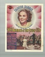 -**100 HOMMES ET UNE JEUNE FILLE  **- Cinema RENAISSANCE - AUVELAIS  - - Cinema Advertisement