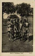 India, Group Of Moharram Tigers (1910s) RPPC Postcard - India