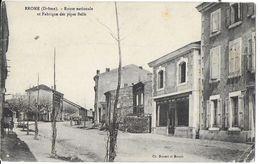 EROME 26 DROME ROUTE NATIONALE ET FABRIQUE DE PIPES BELLE EDIT. DOUCET - Francia