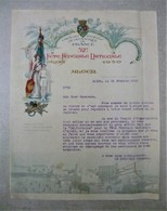 Courrier Lettre - Union Des Sociétés De Gymnastique Française - Fète Fédérale Nationale 1930 Alger ( Algérie Colonies ) - Documentos Históricos