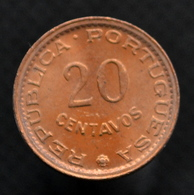 Portuguese Mozambique Coin 20 Centavos 1974. Africa. EF. Km88 - Mozambique