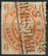 Preußen 1861 6 Pf Adler Im Achteck Michel 15 A Gestempelt Einzelmarke (2-360) - Preussen