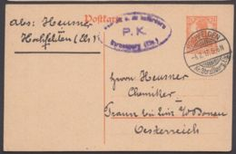 "P 110 I, Bedarf ""Hochfelden, Kr. Straßburg/Els."", 1917, Zensur - Alemania"