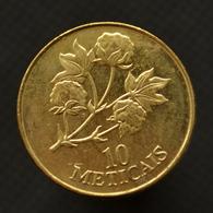Mozambique 10 Meticais 1994. Km117. African Coin. UNC Flowers. Plants (Flora) - Mosambik