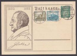 "P 213, Mit Zusatzfrankatur W41, Blanko ""Ravensburg"", 12.7.33 - Alemania"