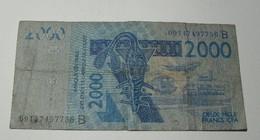 2003 - Afrique De L'Ouest - West Africa - 2000 FRANCS CFA - 09147497756 B (Bénin) - Billets