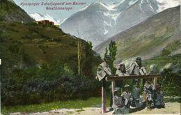 India, KYELANG KEYLONG, Western Himalayan School Youth (1910s) Mission Postcard - India
