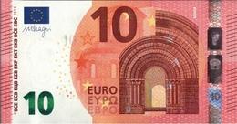 ! 10 Euro Currency, Money, Geldschein, Banknote , F002H5, Mario Draghi, EZB, ECB, Europäische Zentralbank - EURO
