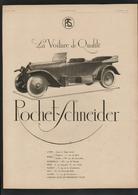 Pub 1919 Automobile ROCHET SCHNEIDER Lyon Monplaisir Voiture Tacot Traction Usine Automobiles Dos MICHELIN Touriste - Advertising