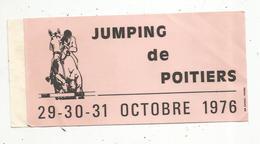 AUTOCOLLANT,  Sports ,  JUMPING DE POITIERS , 1976 , équitation - Adesivi