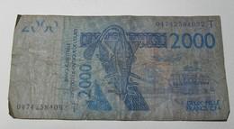 2003 - Afrique De L'Ouest - West Africa - 2000 FRANCS CFA - 04742584092 T (Togo) - Billets