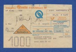 Beleg Nachnahme Großversandhaus QUELLE FÜRTH NÜRNBERG > BERLIN 1981 - BRD