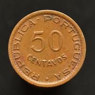 Mozambique 50 Centavos 1953-57. Km81. African Coin. - Mozambique