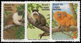 Brazil 1994 Endangered Mammals Unmounted Mint. - Brazil