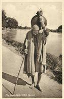 India, Native Doodh Wallah, Milk Carrier (1930s) Postcard - India