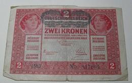 1917 - Autriche - Austria - ZWEI KRONEN - Wien, 1 Marz 1917, 1587  N° 847063 - Austria
