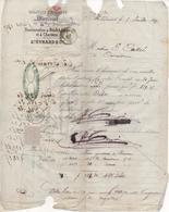 Comptoir D'Escompte MIRECOURT (Vosges) Succurcales à NEUFCHATEAU Et CHARMES, Auguste EVRARD, Juillet 1867 - Marcophilie (Lettres)