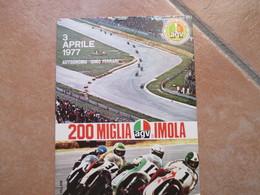 3.4.1977 Targhetta Meccanica 200 Miglia IMOLA Motociclismo Cartolina Speciale - 1971-80: Storia Postale