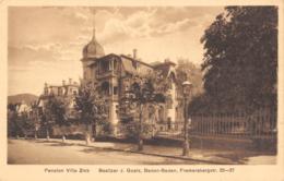 R193728 Pension Villa Zink. Besitzer J. Goetz Baden Baden. Fremersbergstr. 35 37. P. Korbitz - Ansichtskarten
