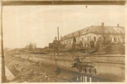 PHOTOGRAPHIE ORIGINALE 1917  CANAL DE SAINT QUENTIN ECRITE EN ALLEMAND AU VERSO FORMAT 15 X 10 CM - Saint Quentin