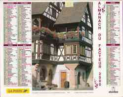 °° Calendrier Almanach La Poste 2000 Oberthur - Dépt 32 - Maison De Kaysersberg Et Jardin Fleuri - Calendriers