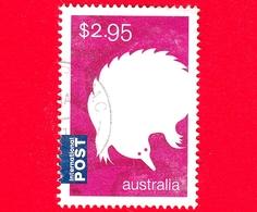AUSTRALIA  - Usato - 2016 - Animali Silizzati  Monotremi - Istrice - Echidna  - Tachyglossus Aculeatus - 2.95 - 2010-... Elizabeth II