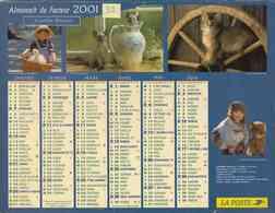 °° Calendrier Almanach La Poste 2001 Cartier Bresson - Dépt 32 - Enfants Chats Et Chiens - Kalenders
