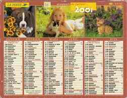 °° Calendrier Almanach La Poste 2001 Lavigne - Dépt 32 - Animaux Et Paysages Divers - Groot Formaat: 2001-...