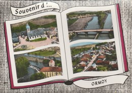 CPSM 70 ORMOY SOUVENIR MULTIVUES AERIENNE LIVRE OUVERT - France