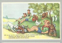 ** .  BOYS-SCOUTS        **---Terwijl De Hond Zijn  Slag Wil  Slaan . . . . . . . . . . - Scoutisme
