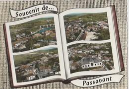 CPSM 70 PASSAVANT SOUVENIR MULTIVUES AERIENNES LIVRE OUVERT - Francia