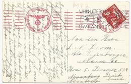 CARTE POSTALE 1942 POUR L'ALLEMAGNE AVEC CACHET ROUGE DE CENSURE - Periodo 1891 – 1948 (Wilhelmina)