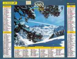 °° Calendrier Almanach La Poste 2002 Lavigne - Dépt 32 - Barèges Et La Vallée D'Aspe Dans Les Pyrénées - Groot Formaat: 2001-...