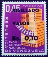 Venezuela 1965 Recensement Census Surchargé Overprinted RESELLADO Yvert 708 ** MNH - Madagaskar (1960-...)