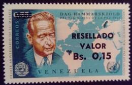 Venezuela 1965 Personnalité Personnality Surchargé Overprinted RESELLADO Yvert 709 ** MNH - Madagaskar (1960-...)