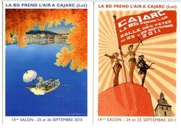 CAJARC - 4 Cartes Salon BD - Pellerin - Juillard - Vatine - Plessix  - Voir Scans - Bandes Dessinées