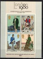 """GRAN BRETAGNA - 1980 - """"LONDON 1980"""" - ESPOSIZIONE FILATELICA INTERNAZIONALE - FOGLIETTO- SOUVENIR SHEET -MNH - Nuovi"""