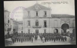 5e Escadron Territorial Du Train Dec 1914  + Cachet En Rapport   Compagnie D'étapes - Weltkrieg 1914-18
