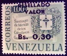 Venezuela 1965 Armoiries Arms Surchargé Overprinted RESELLADO Yvert 715 ** MNH - Madagaskar (1960-...)