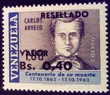 Venezuela 1965 Personnalité Personnality Surchargé Overprinted RESELLADO Yvert 716 ** MNH - Madagaskar (1960-...)