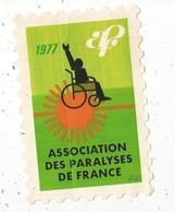 Autocollant ,  Timbre,  Association Des Paralyses De France ,1977 , APF - Autocollants
