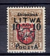 Lituanie Centrale YT N° 9 Neuf *. Rare!. B/TB. A Saisir! - Litauen