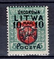 Lituanie Centrale YT N° 10 Neuf *. Rare!. B/TB. A Saisir! - Litauen