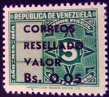 Venezuela 1965 Timbre Fiscal Surchargé Overprinted RESELLADO Yvert 718 ** MNH - Madagaskar (1960-...)