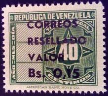 Venezuela 1965 Timbre Fiscal Surchargé Overprinted RESELLADO Yvert 721 ** MNH - Madagaskar (1960-...)